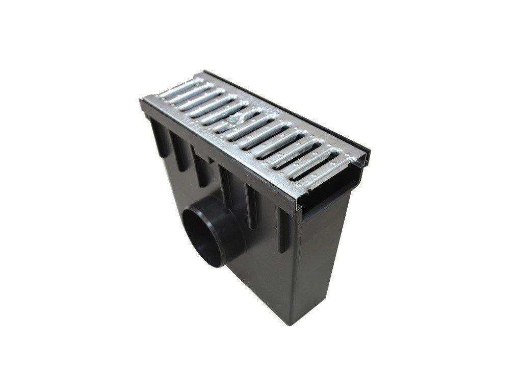 Sběrná vpusť 55 PVC pozinkovaná mříž 1,5t (330x130x300)