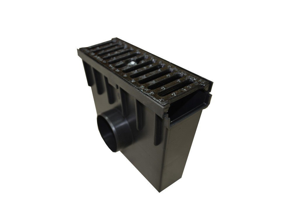 Sběrná vpusť 55 PVC litinová mříž 12,5t (330x130x300)