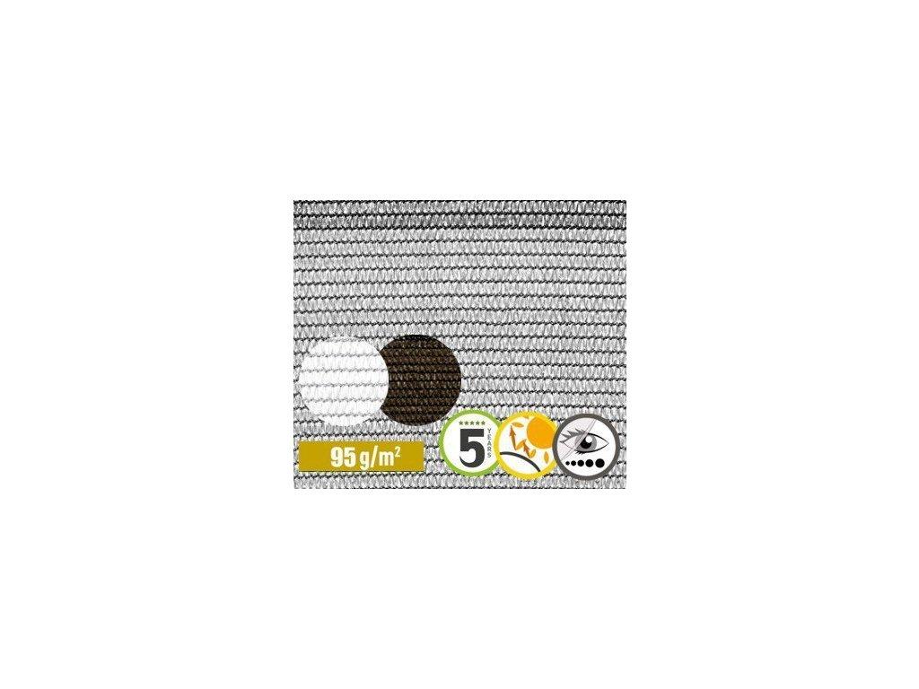 Stínící tkanina na plot 84% síťka 1,5 x 50 m šedá