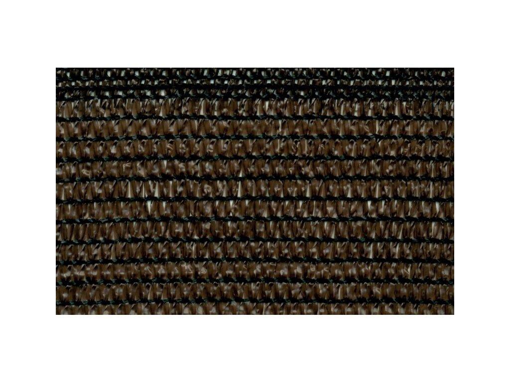 Stínící tkanina na plot 84% síťka 1,5 x 50 m hnědá
