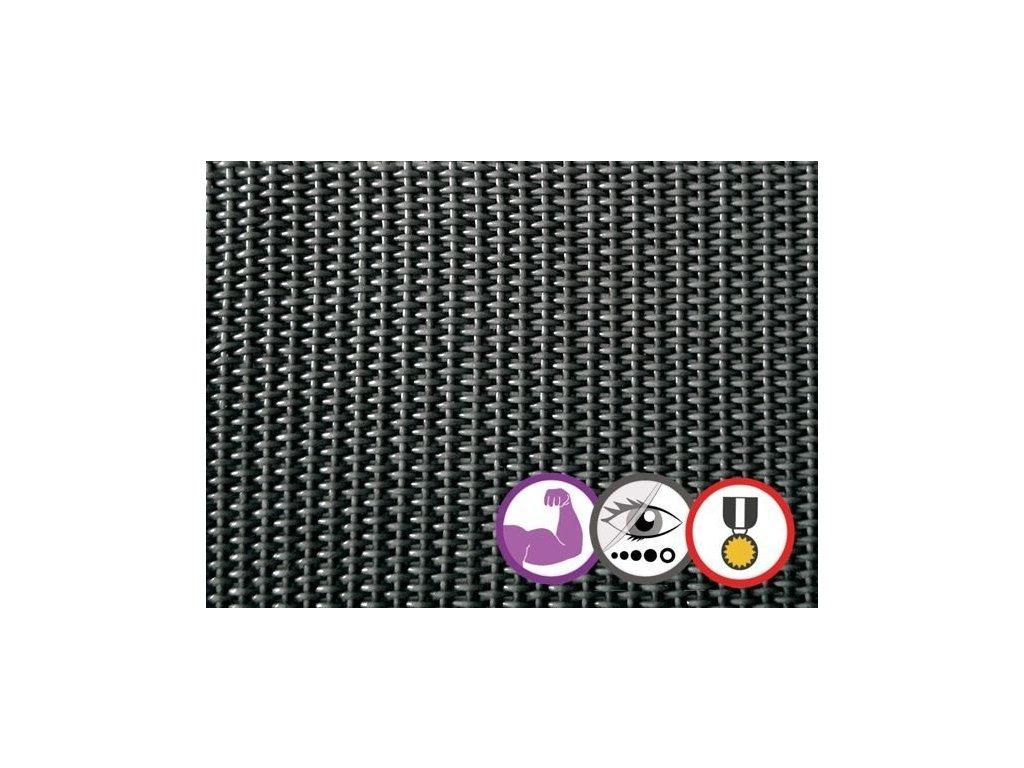 Stínící tkanina na plot 95% Prive 1 x 5 m antracit síť (580g/m2)