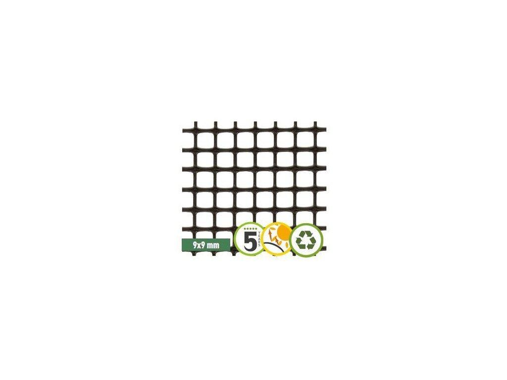 Plastové pletivo 1 x 5m síť ECO QUADRA (oko9x9mm)