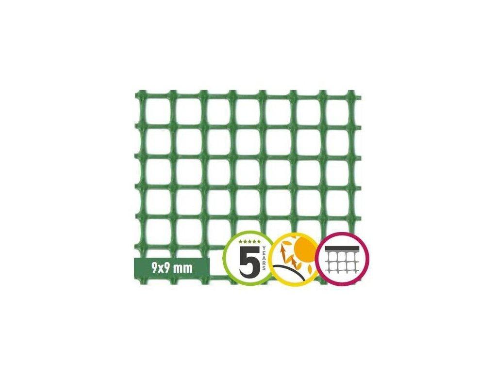 Plastové pletivo 1x5m síť QUADRA 10