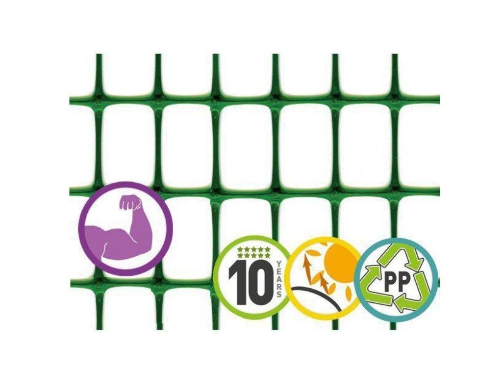 Ochranná síť na plot