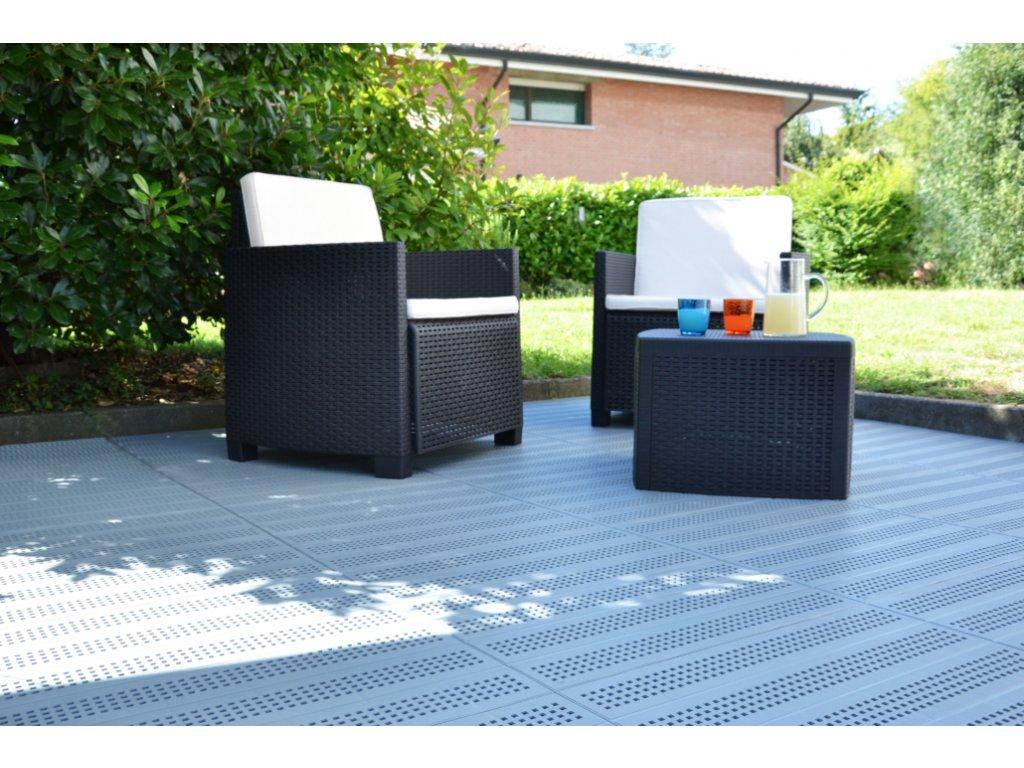 Plastová dlažba terracota tvárnice 60 x 60 x 3,3 cm Forata