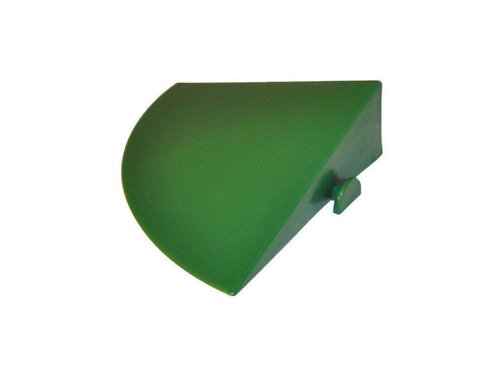 Ukončovací roh nájezd 10 x 10 cm pro plastovou dlažbu