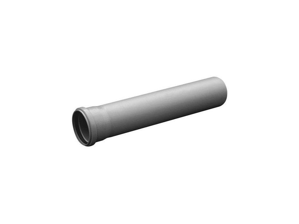 Kanalizační trubka HT hrdlová odpadní Ø 50 / 1 m vnitřní