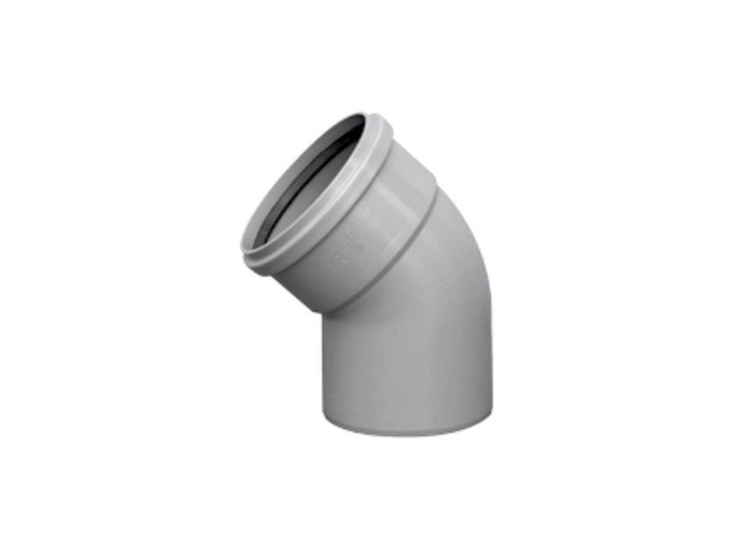Kanalizační koleno HT odpadní Ø 100 / 45° vnitřní