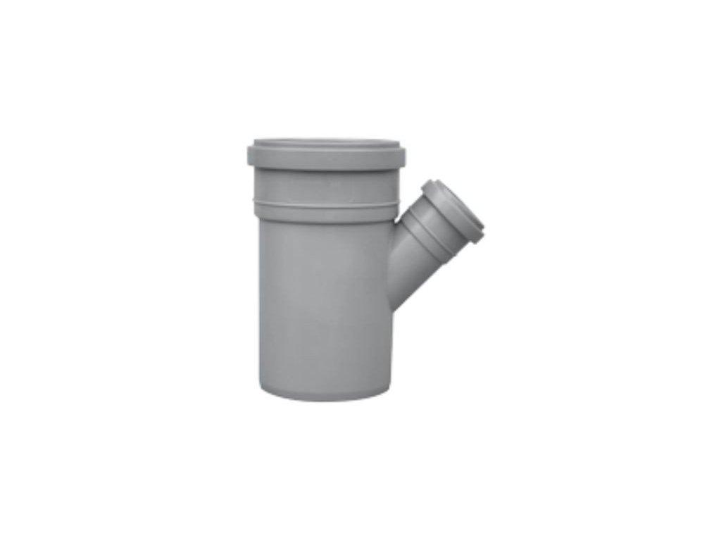 Kanalizační odbočka jednoduchá HT 45° odpadní Ø 100/70 vnitřní