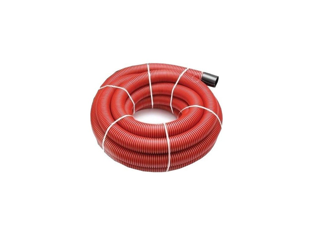Kabelová chránička 40 mm roura trubka 50 m s průvlačným provázkem VÝPRODEJ