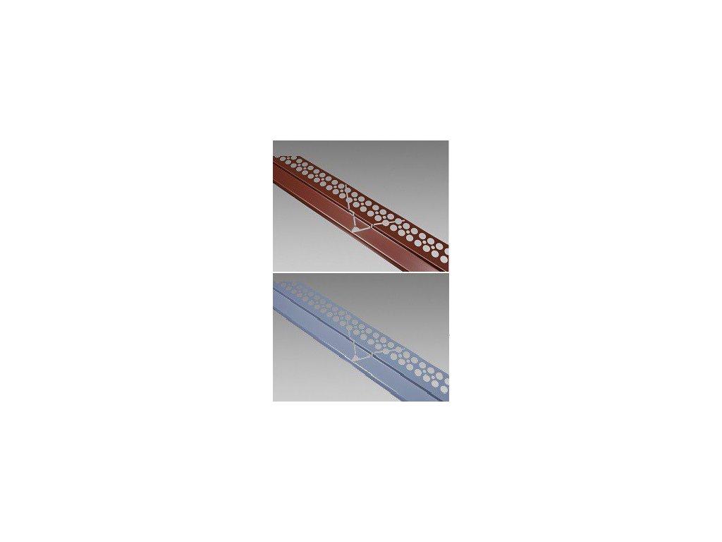 Balkonový profil rohový BÍLÝ 2m