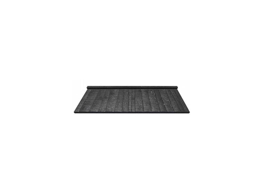 Blachotrapez JÁNOŠÍK Plechová krytina střešní šindel 380 mm 0,5 PLADUR černá
