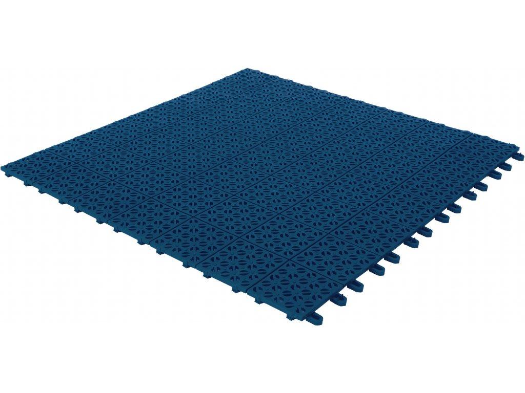 Plastová dlažba modrá 55 x 55 x 1 cm podlahová krytina Multiplate