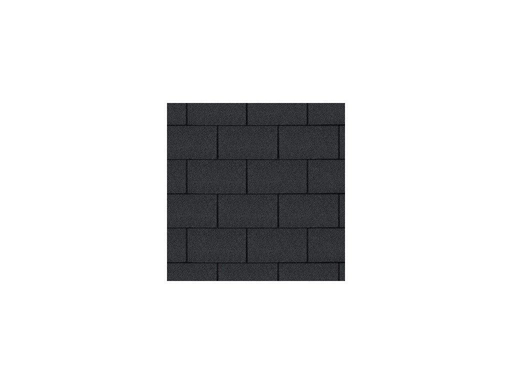 Asfaltový střešní šindel černá ROCK TRIO RECTANGULAR