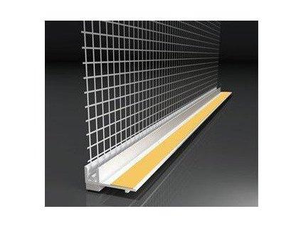 Začišťující okenní profil s tkaninou 9mm APU lišta 2,4 m