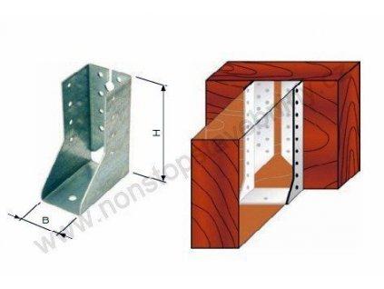 Trámový nosník uzavřený vnitřní 70 x 125mm W-JHF vzpěry