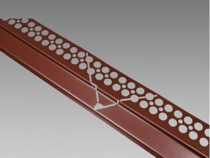 Balkonový profil rohový HNĚDÝ 2m