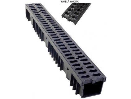 Odvodňovací žlab PVC mříž 1,5t (1000x130x105)