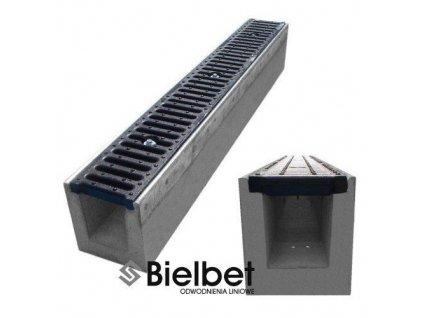 Odvodňovací žlab BETONOVÝ šedá litina 25t (1000x145x160)