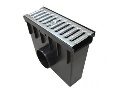 Sběrná vpusť 105 PVC pozinkovaná mříž 1,5t (330x130x300)