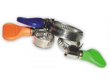 Svěrka na hadice s motýlkem / průměr 12-20mm (š.9mm)