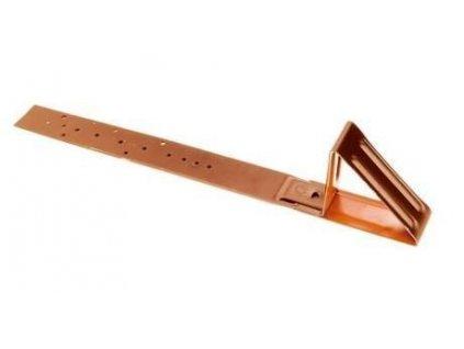 Protisněhový hák  červeno-hnědý A400 pro šindel