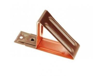 Protisněhový hák červeno-hnědý XBL 125mm (pro plechovou krytinu)