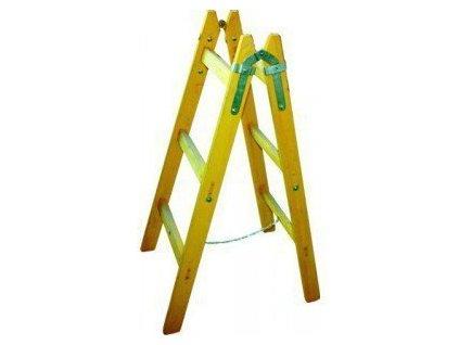 Dřevěné štafle 10 příček s vymezovacím řetízkem