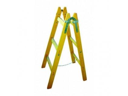 Dřevěné štafle 12 příček s vymezovacím řetízkem