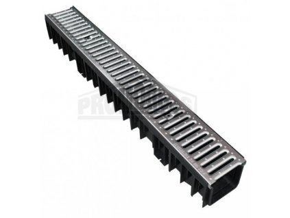 Odtokový žlab s pozinkovanou mříží 1,5t (130x120x1000mm) MasterPlast