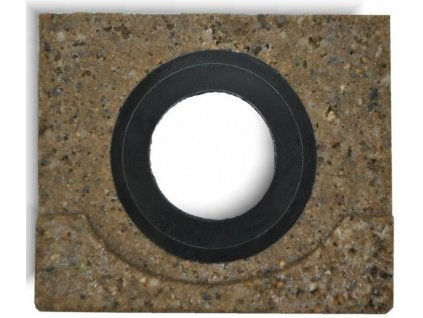 Koncovka žlabu s odtokem 130 x 130 mm pro polymerbetonové žlaby