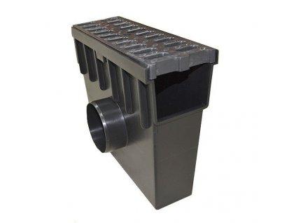 Sběrná vpusť 55 PVC + plastová mříž 1,5t (330x130x300)