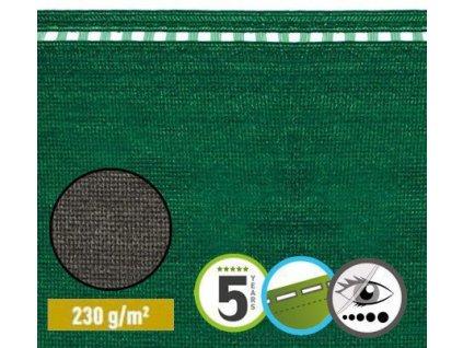 Stínící tkanina na ploty 100% sítě 1,5 x 50 m COIMBRA zelená (230g/m2)