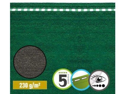 Stínící tkanina na ploty 100% sítě 2 x 50 m COIMBRA zelená (230g/m2)