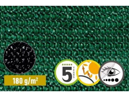 Stínící tkanina 95% na plot síťka 1 x 50 m SAMOA zelená (180g/m2)