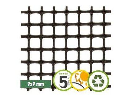 Plastové pletivo 1 x 50m síť ECO QUADRA (oko9x9mm)