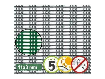 Ochranná síť proti větru 11 x 3 mm MISTRAL 1 x 5 m zelená