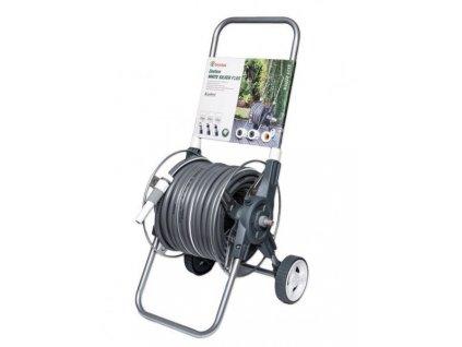 """Zahradní hadice 50m 1/2"""" + vozík a 8x příslušenstvím SILVER PLUS"""