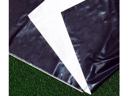 Folie na záhony oboustranná černobílá 1,4 x 10 m