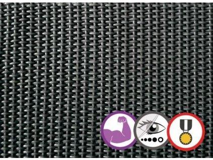 Stínící tkanina na plot 95% Prive 1,5 x 5 m antracit síť (580g/m2)