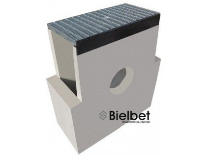 Sběrná vpusť žlab BETON 200 hustý rošt pozink 1,5t (620x250x700)