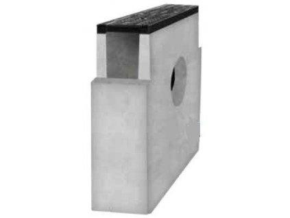 Sběrná vpusť žlab BETONOVÁ 150 litina mříž 12,5t (600x150x500)