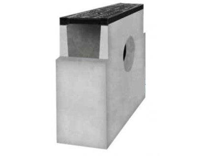 Sběrná vpusť žlab BETONOVÁ 150 litina mříž 12,5t (600x200x500)