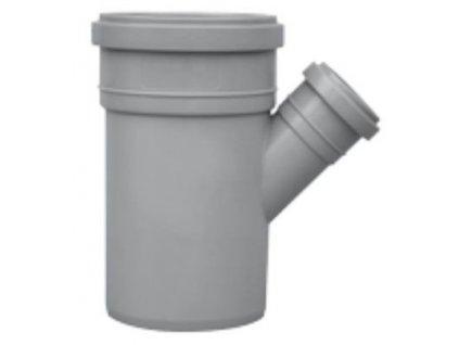 Kanalizační odbočka jednoduchá HT 45° odpadní Ø 100/50 vnitřní