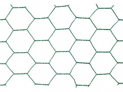 Pletivo poplastované šestihranné 1 x 25m (oko 25 mm)