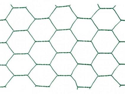 Pletivo poplastované šestihranné 1 x 10m (oko 13 mm)