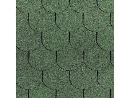 Asfaltový střešní šindel zelená BOBROVKA ROCK