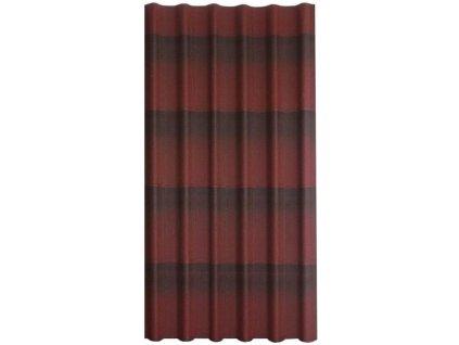 Střešní deska bitumenová červená ONDULINE Easystyle 6 vln (1,599m2)