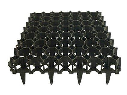 Zatravňovací dlažba venkovní 50 x 50 x 6,2cm černá PROFI Garden černá