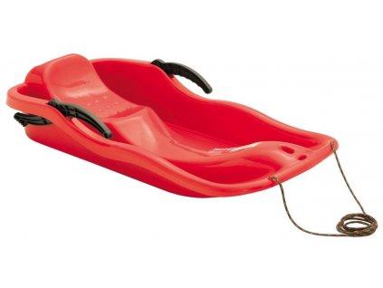 Dětské sáňky Boby RACE červené sáně plastové